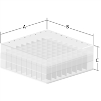 Polyproplyene Box Including 81 Place Divider - B2P