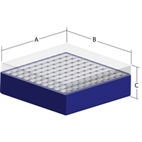 Polyproplyene Box Including 100 Place Divider - B2P100