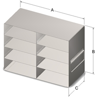 Upright Drawer, 100-Cell Hinged, 8 Box Cap