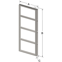 4-PLACE FRAME FOR ZC012 CANISTER