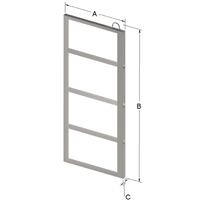 4-PLACE FRAME FOR ZC025 CANISTER
