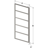 5-PLACE FRAME FOR ZC023 CANISTER