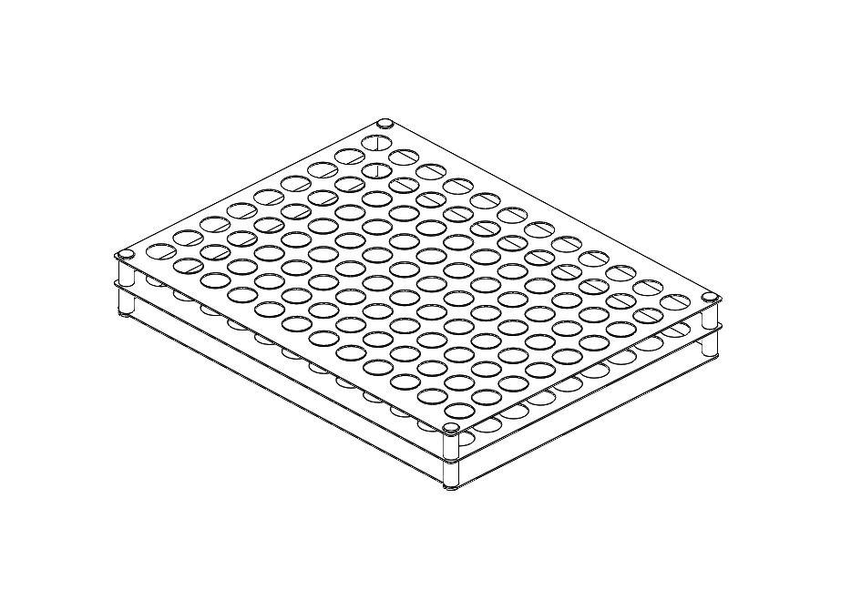 L2112 2 mL Vial Freezing Rack (Capacity 130 Vials).