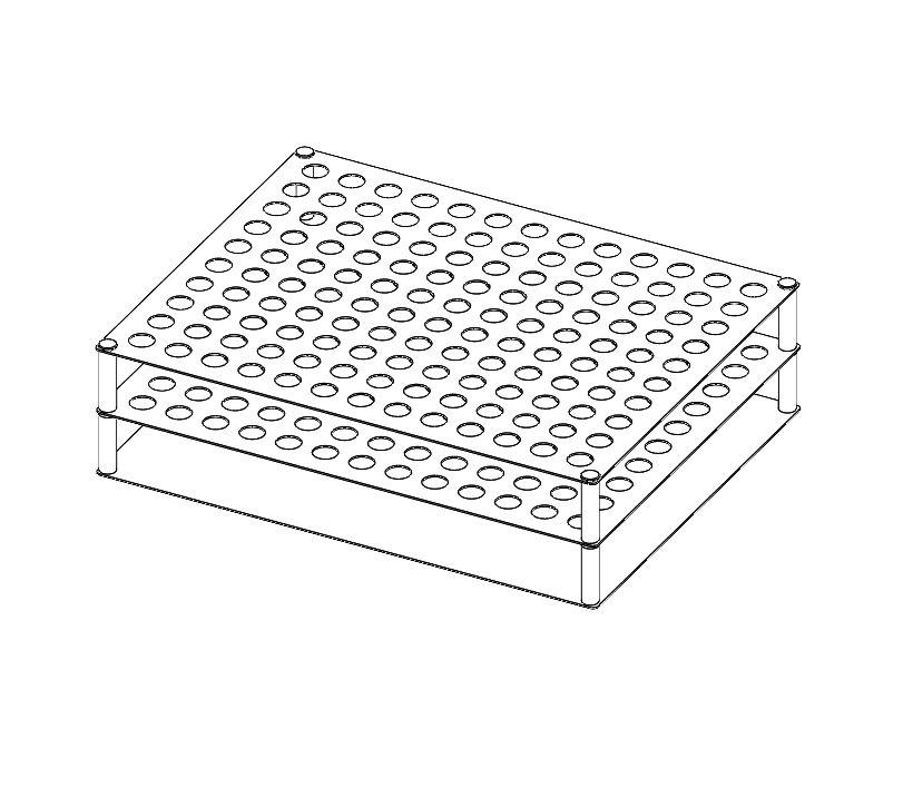 L2114 4mL / 5mL Vial Rack (Capacity 130 Vials).