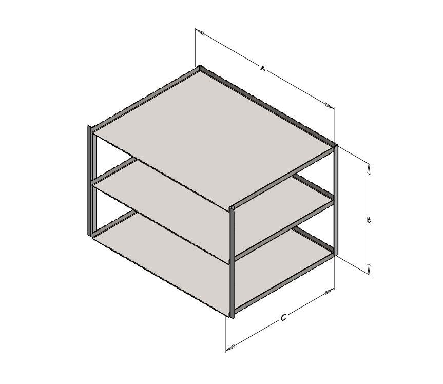 L2115 Holder for 4mL / 5mL Vial Rack (Capacity 3 Racks).