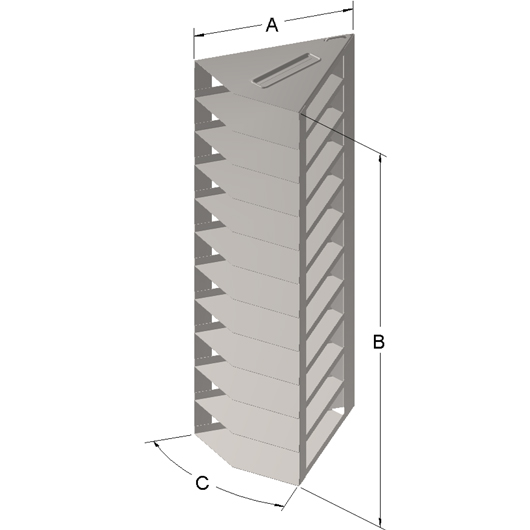 Cryosystem 4000 Rack, 7-Shelf, for 3.125-Inch High Boxes