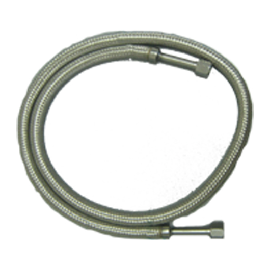 Hose, Cryogenic, 4 Foot, Stainless Steel (Flexible with 1/2- Inch 45 Flare Swivel Ends).