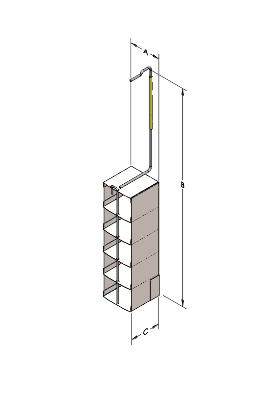 Cryosystem 47/11 Rack, 5-Shelf, for 2-Inch High Boxes