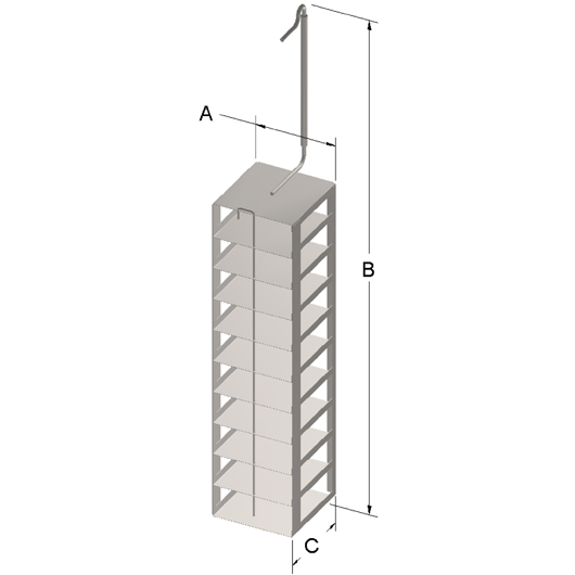 Cryosystem 6000 Rack, 10-Shelf, for 2-Inch High Boxes