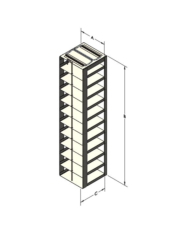 """2"""" Stainless Steel Chest Rack, 100"""